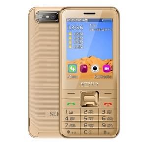 SERVO V8100 kaart mobiele telefoon  2 8 inch  SC6531CA  21 toetsen  ondersteuning Bluetooth  FM  MP3  GSM  Russisch toetsenbord (goud)