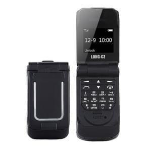 LONG-CZ J9 mini Flip stijl mobiele telefoon  0 66 inch  18 toetsen  ondersteuning Bluetooth  FM  SOS  anti-Lost  Magic Sound  auto beantwoording  GSM  enkele SIM (zwart)