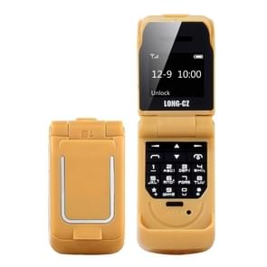 LONG-CZ J9 Mini Flip Style Mobile Phone, 0.66 inch, 18 Keys, Support Bluetooth, FM, SOS, Anti-lost, Magic Sound, Auto Answering, GSM, Single SIM(Gold)