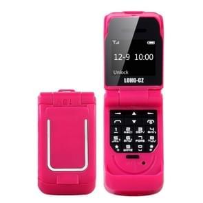 LONG-CZ J9 mini Flip stijl mobiele telefoon  0 66 inch  18 toetsen  ondersteuning Bluetooth  FM  SOS  anti-Lost  Magic Sound  auto beantwoording  GSM  enkele SIM (rood)