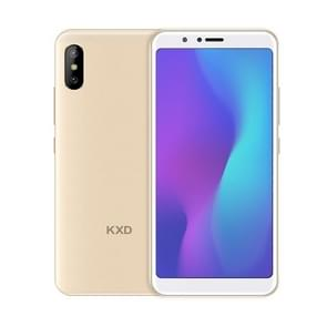 KXD 6A, 1GB+8GB, Dual Back Cameras, 5.5 inch Android 8.1 SC7731E Quad Core up to 1.3GHz, Network: 3G, Dual SIM(Gold)
