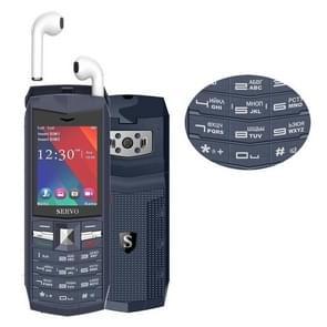 SERVO R26 TWS Bluetooth Mobile Phone, Russian Keyboard, 3000mAh Battery, 2.4 inch, 23 Keys, Support Bluetooth, FM, Flashlight, MP3 / MP4, GSM, Dual SIM, with TWS Bluetooth Headsets(Grey)