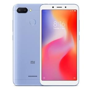Xiaomi Redmi 6, 3GB+64GB, Global Official Version, AI Dual Back Cameras, Face & Fingerprint Identification, 5.45 inch MIUI 9.0 Helio P22 Octa Core up to 2.0GHz, Network: 4G(Blue)