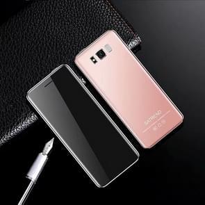 SATREND S10 kaart mobiele telefoon  2 4 inch touchscreen  MTK6261D  ondersteuning Bluetooth  FM  GSM  Dual SIM (roze)