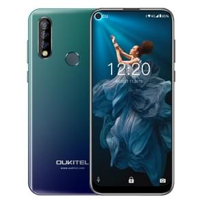 OUKITEL C17 Pro, 4GB+64GB, Dual Triple Cameras, Face ID & Fingerprint Identification, 6.35 inch Pole-notch Screen Android 9.0 Pie MTK6763 Octa-core up to 2.0GHz, Network: 4G, Dual SIM(Gradient Blue)
