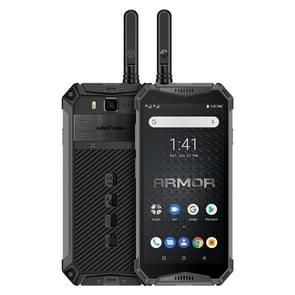 Ulefone Armor 3WT, Walkie Talkie Function, Dual 4G, 6GB+64GB, IP68/IP69K Waterproof Dustproof Shockproof, Face ID & Fingerprint Identification, 10300mAh Battery, 5.7 inch Android 9.0 MKT Helio P70 Octa-core 64-bit up to 2.1GHz, Network: 4G, NFC, OTG (Blac
