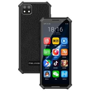 MELROSE 2019 END with Fingerprint, 1GB+8GB, 3.46 inch, Android 8.1 MTK6739V/WA Quad Core up to 1.28GHz, Support Bluetooth / WiFi /GPS, Network: 4G, Support Google Play(Black)