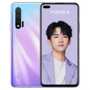 Huawei nova 6 WLZ-AL10, 8GB+128GB, China Version, Triple Back Cameras + Dual Front Cameras, 4100mAh Battery, Face ID & Fingerprint Identification, 6.57 inch EMUI 10.0.1 HUAWEI Kirin 990 Octa Core up to 2.86GHz, Network: 4G, OTG, NFC(Pink)