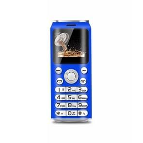 Satrend K8 Mini Mobile Phone, 1.0 inch, Hands Free Bluetooth Dialer Headphone, MP3 Music, Dual SIM, Network: 2G (Blue)