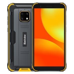 [HK-magazijn] Blackview BV4900 Rugged Phone  3GB+32GB  IP68 Waterproof Dustproof Shockproof  Face Unlock  5580mAh Battery  5.7 inch Android 10.0 MTK6761V/WE Quad Core tot 2.0GHz  Network: 4G  NFC  OTG  Dual SIM(Geel)