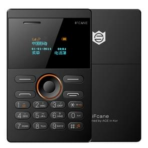 iFcane E1 Card Mobile Phone, 0.96 inch Screen, 21 Keys, Touch Sensitive Buttons, MP3, TF, FM, Bluetooth, GSM(Black)