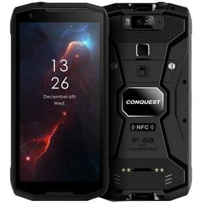 Conquest S12 Pro Rugged Phone, 4GB+64GB, Walkie Talkie Function, 8000mAh Battery, IP68 Waterproof Dustproof Shockproof, Face ID & Fingerprint Identification, 5.99 inch Android 9.0 Helio P70 Octa Core up to 2.5GHz, Network: 4G, NFC, OTG, PTT, POC(Black)