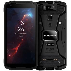 Conquest S12 Pro robuuste telefoon, 6GB + 128GB, 8000mAh batterij, IP68 waterdicht stofdicht schokbestendig, Face ID & vingerafdruk identificatie, 5,99 inch Android 9,0 Helio P70 OCTA core tot 2.5 GHz, netwerk: 4G, NFC, OTG (zwart)