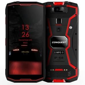 Conquest S12 Pro robuuste telefoon, 6GB + 128GB, 8000mAh batterij, IP68 waterdicht stofdicht schokbestendig, Face ID & vingerafdruk identificatie, 5,99 inch Android 9,0 Helio P70 OCTA core tot 2.5 GHz, netwerk: 4G, NFC, OTG (rood)