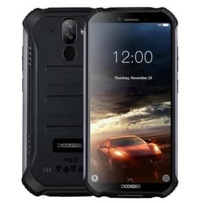 DOOGEE S40 Lite Rugged Phone, 2GB+16GB, IP68/IP69K Waterproof Dustproof Shockproof, MIL-STD-810G, 4650mAh Battery, Dual Back Cameras, Face & Fingerprint Identification, 5.5 inch Android 9.0 Pie MTK6580 Quad Core up to 1.3GHz, Network: 3G, NFC(Black)