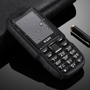 KUH T3 Rugged Phone  Waterproof Dustproof Shockproof  MTK6261DA  2400mAh Battery  2.4 inch  Bluetooth  FM  Dual SIM(Black)