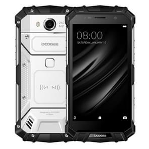 DOOGEE S60 Triple Proofing Phone, 6GB+64GB, IP68 Waterproof Dustproof Shockproof, 5580mAh Battery, Fingerprint Identification, 5.2 inch Sharp Android 7.0 MTK Helio P25 Octa Core up to 2.5GHz, Network: 4G, NFC, OTA, QI Wireless Charge(Silver)