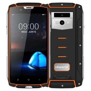 VKworld VK7000 Triple Proofing Phone, 4GB+64GB, IP68 Waterproof Dustproof Shockproof, Dual Back Cameras, 5600mAh Battery, Face & Fingerprint Identification, 5.2 inch Android 8.0 MTK6750T Octa Core up to 1.5GHz, Network: 4G, OTG, Wireless Charge(Orange)