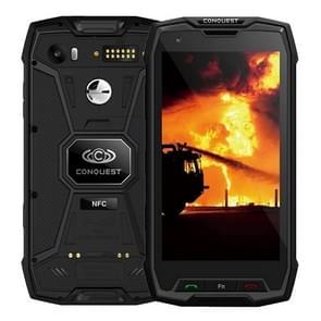 Conquest S9, 6 GB + 128 GB, Walkie Talkie functie 6000mAh batterij, IP68 waterdichte stofdicht Shockproof vonkvrije, Fingerprint identificatie, 5.5 inch Android 7.1 MTK6757 Octa Core tot 2,35 GHz, netwerk: 4 G, NFC, externe RFID, POC(Black)