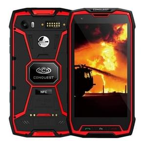 Conquest S9, 6 GB + 128 GB, Walkie Talkie functie 6000mAh batterij, IP68 waterdichte stofdicht Shockproof vonkvrije, Fingerprint identificatie, 5.5 inch Android 7.1 MTK6757 Octa Core tot 2,35 GHz, netwerk: 4 G, NFC, externe RFID, POC(Red)