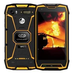 Conquest S9, 6 GB + 128 GB, Walkie Talkie functie 6000mAh batterij, IP68 waterdichte stofdicht Shockproof vonkvrije, Fingerprint identificatie, 5.5 inch Android 7.1 MTK6757 Octa Core tot 2,35 GHz, netwerk: 4 G, NFC, externe RFID, POC(Yellow)