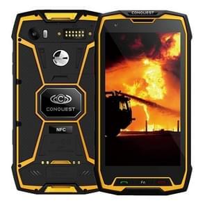 Conquest S9, 6 GB + 64 GB, Walkie Talkie functie 6000mAh batterij, IP68 waterdichte stofdicht Shockproof vonkvrije, Fingerprint identificatie, 5.5 inch Android 7.1 MTK6757 Octa Core maximaal 2,36 GHz, netwerk: 4 G, NFC, externe RFID, POC(Yellow)