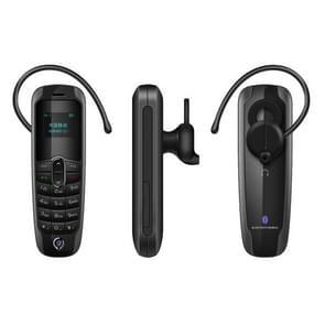 Forita A20 Mini Mobile Phone, Hands Free Bluetooth Dialer Headphone, 0.66 inch, MTK6261D, 18 Keys, FM, MP3, GSM(Black)