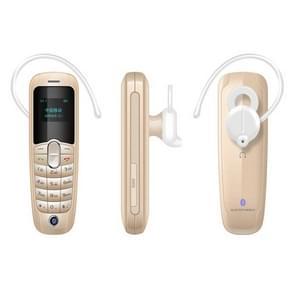 Forita A20 Mini Mobile Phone, Hands Free Bluetooth Dialer Headphone, 0.66 inch, MTK6261D, 18 Keys, FM, MP3, GSM(Gold)