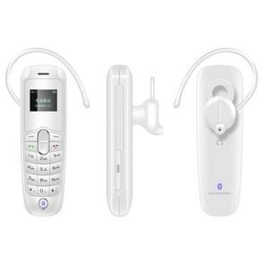 Forita A20 Mini Mobile Phone, Hands Free Bluetooth Dialer Headphone, 0.66 inch, MTK6261D, 18 Keys, FM, MP3, GSM(White)