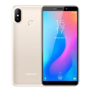 HOMTOM C2, 2GB+16GB, Face ID & Fingerprint Unlock, 5.5 inch Android 8.1 MTK6739 Quad Core up to 1.3GHz, Network: 4G, OTG, Dual SIM, OTA(Champagne Gold)