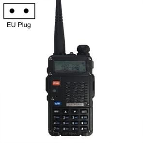 BaoFeng BF-F8HP 8W Dual Band Two-Way Radio VHF UHF Handheld Walkie Talkie, EU Plug(Black)