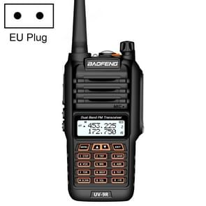 BaoFeng BF-UV9R 5W Waterproof Dual Band Radio Handheld Antenna Walkie Talkie, EU Plug