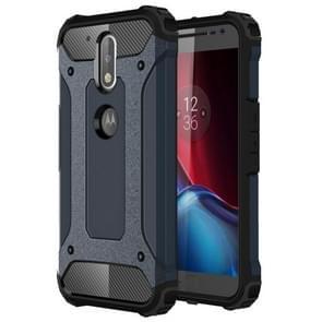 For Motorola Moto G (4rd gen) & G (4rd gen) Plus Tough Armor TPU + PC Combination Case(Navy Blue)