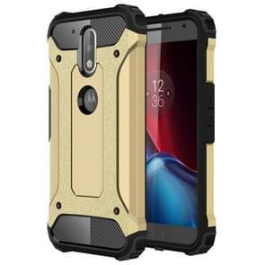 Voor Motorola Moto G (gen 4) & G (gen 4) Plus harde Armor TPU + PC combinatie Case(Gold)
