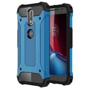 For Motorola Moto G (4rd gen) & G (4rd gen) Plus Tough Armor TPU + PC Combination Case(Blue)