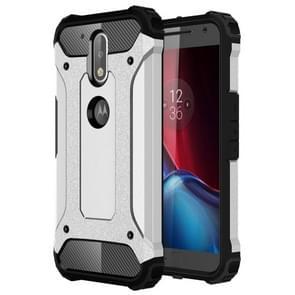 Voor Motorola Moto G (gen 4) & G (gen 4) Plus harde Armor TPU + PC combinatie Case(Silver)
