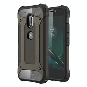 Voor Motorola Moto G4 Play hard Armor TPU + PC combinatie Case(Coppery)