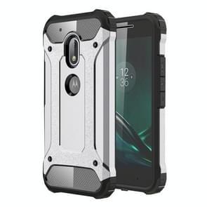 Voor Motorola Moto G4 Play hard Armor TPU + PC combinatie Case(Grey)
