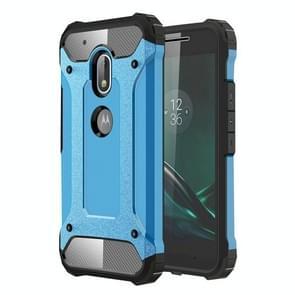 For Motorola Moto G4 Play Tough Armor TPU + PC Combination Case(Blue)