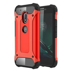 For Motorola Moto G4 Play Tough Armor TPU + PC Combination Case(Red)