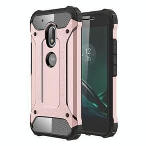 Voor Motorola Moto G4 Play kast hard Armor TPU + PC combinatie (Rose goud)