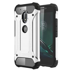 For Motorola Moto G4 Play Tough Armor TPU + PC Combination Case(Silver)