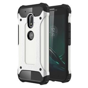 Voor Motorola Moto G4 Play hard Armor TPU + PC combinatie Case(White)
