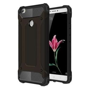 Voor Xiaomi Max harde Armor TPU + PC combinatie Case(Black)