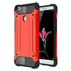 Voor Xiaomi Max harde Armor TPU + PC combinatie Case(Red)
