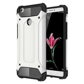 Voor Xiaomi Max harde Armor TPU + PC combinatie Case(White)