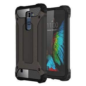 For LG K10 Tough Armor TPU + PC Combination Case(Coppery)