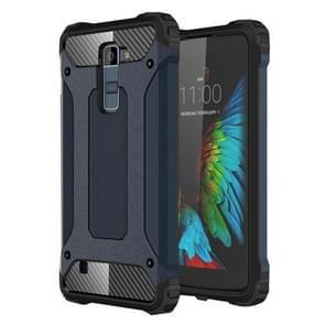 For LG K10 Tough Armor TPU + PC Combination Case(Navy Blue)