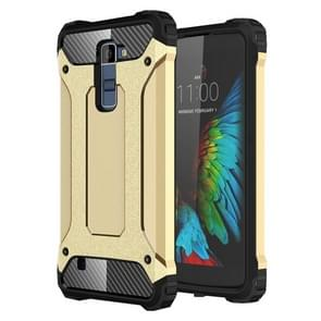 Tough Armor TPU + PC Combination Case For LG K10 (Gold)