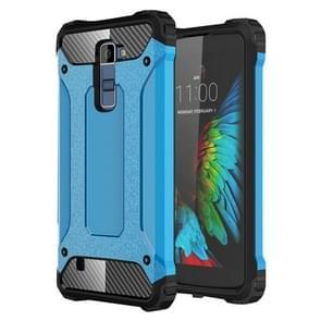 Tough Armor TPU + PC Combination Case For LG K10 (Blue)